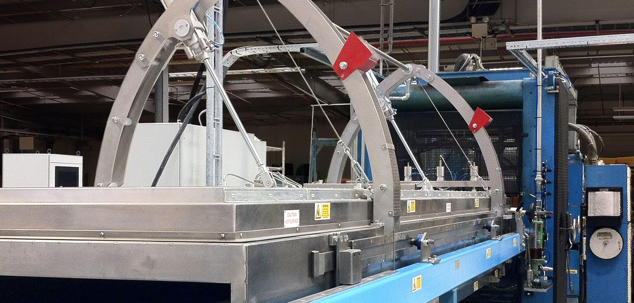 industrial thermoforming ovens in-line