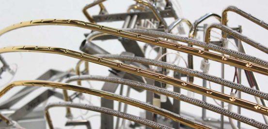 tungsten tubes bespoke shape gold reflective coating
